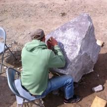 Carving boulder