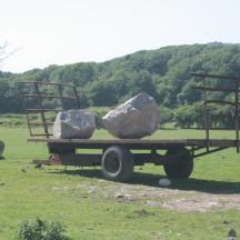 Delivering boulders