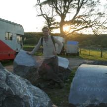 Adam with Boulders