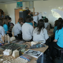 Stone carving workshop in local School